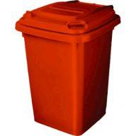 פח אדום למיחזור בנפח 50 ליטר להפרדת כלל סוגי הפסולת