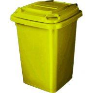 פח צהוב למיחזור בנפח 50 ליטר להפרדת כלל סוגי הפסולת
