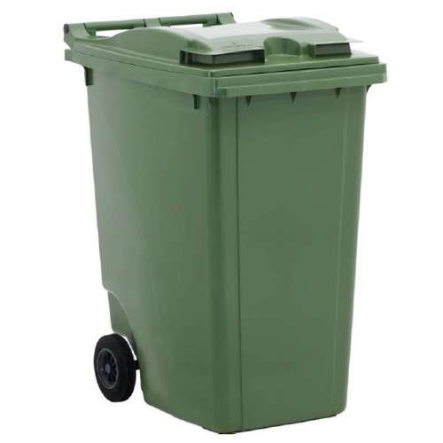 פח ירוק לאשפה בנפח 360 ליטר