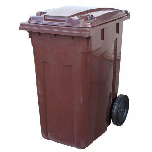 פח 360 ליטר חום לפסולת אורגנית (פסולת רטובה)