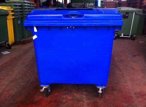 עגלת מיחזור נייר בצבע כחול 1100 ליטר