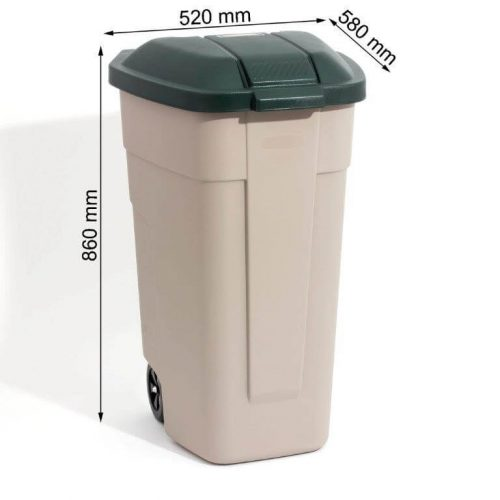 עגלת אשפה לגינה 110 ליטר