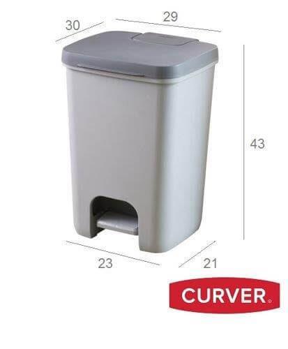 פח פדל 20 ליטר כתר פלסטיק