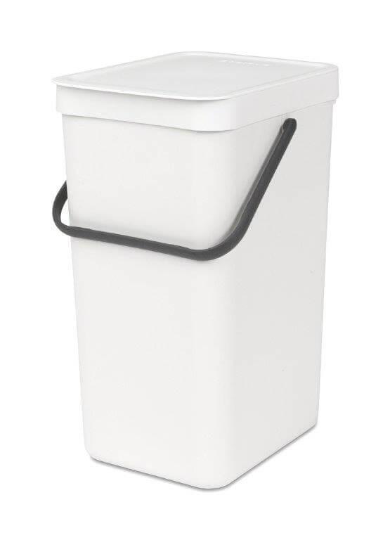 פח הפרדה 16 ליטר בצבע לבן