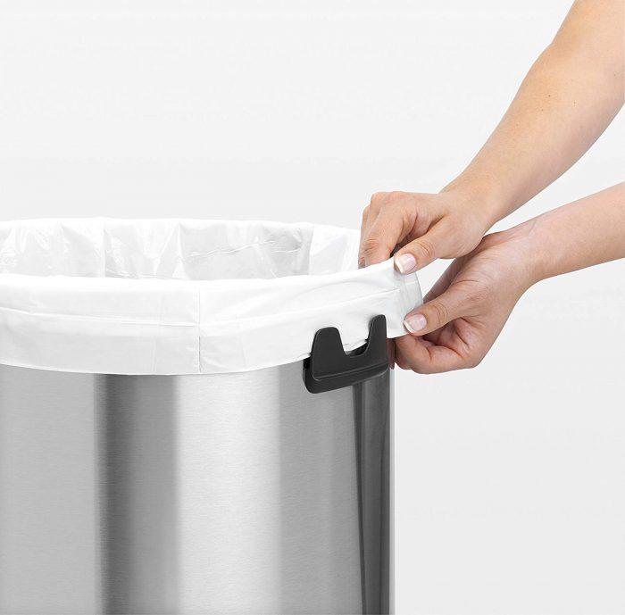 פח אשפה פוש מנירוסטה 60 ליטר